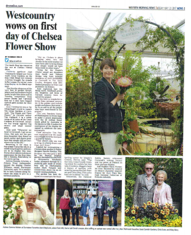 Devon Live - 23 May 2017 - Westcountry wows on first day of Chelsea Flower Show