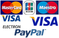 Payment methods accepted: Paypal, Visa, Visa Electron, JCB, Mastercard, Maestro, Cheque