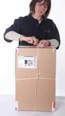 7. Parcel is then secured