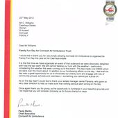 Click to read letter of thanks from Cornwall Air Ambulance
