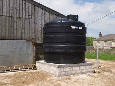 Rainwater collection tanks at Caerhays Barton 1