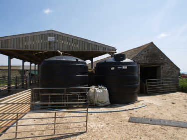 Rainwater collection tanks at Caerhays Barton 2