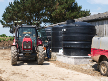 Rainwater collection tanks at Caerhays Barton 3