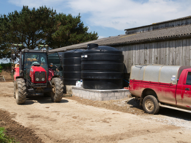 Rainwater collection tanks at Caerhays Barton 4