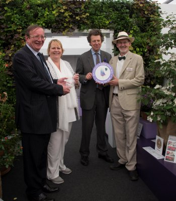 Charles Williams from Burncoose Nurseries receiving the Plant of the Year award at Chelsea 2015