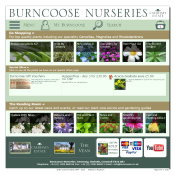 Burncoose website screen shot 2015