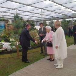 Chelsea 2018 - Press Day Visitors, The Queen & Charles Williams