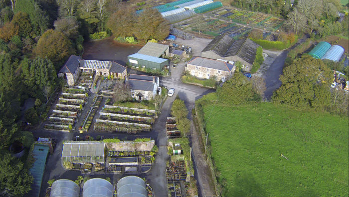 Aerial Views from Burncoose Gardens 2